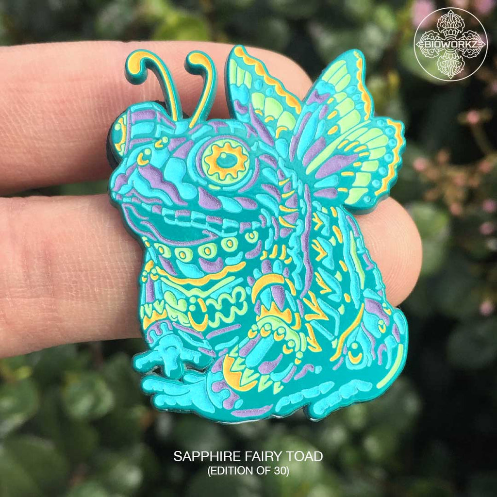 Sapphire Fairy Toad Pin (Edition of 30)