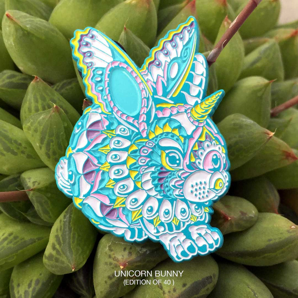 Unicorn Bunny Toad Pin (Edition of 40)