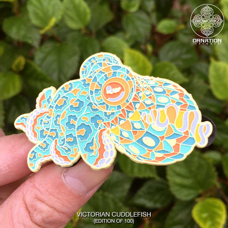 Victorian Cuddlefish Pin (Edition of 100)