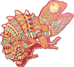 Ruby Chameleon Pin (Edition of 30)