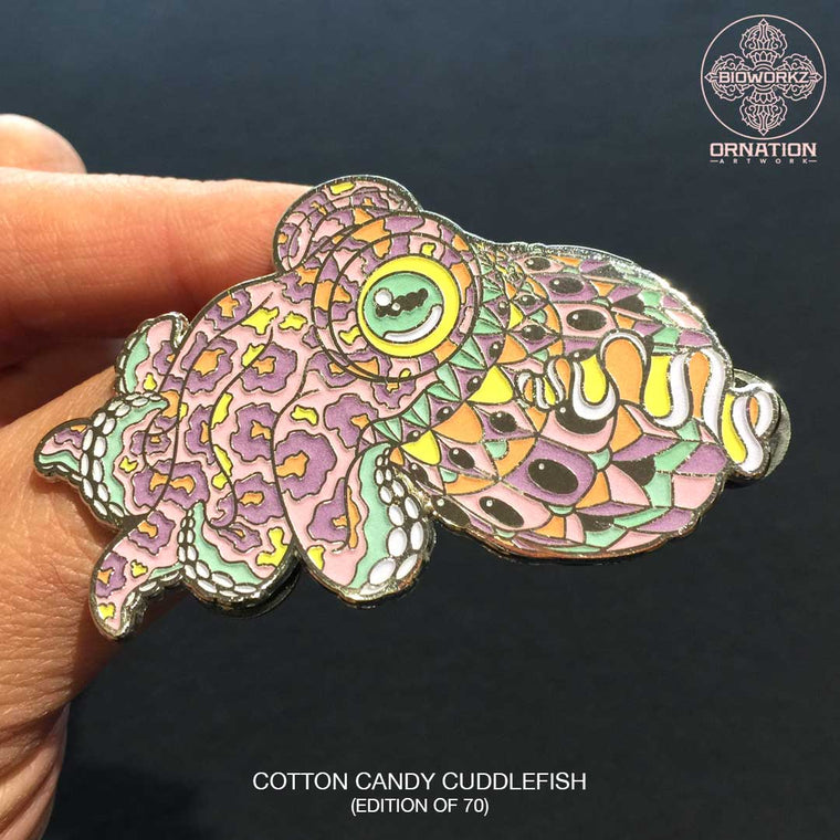 Cotton Candy Cuddlefish Pin (Edition of 70)
