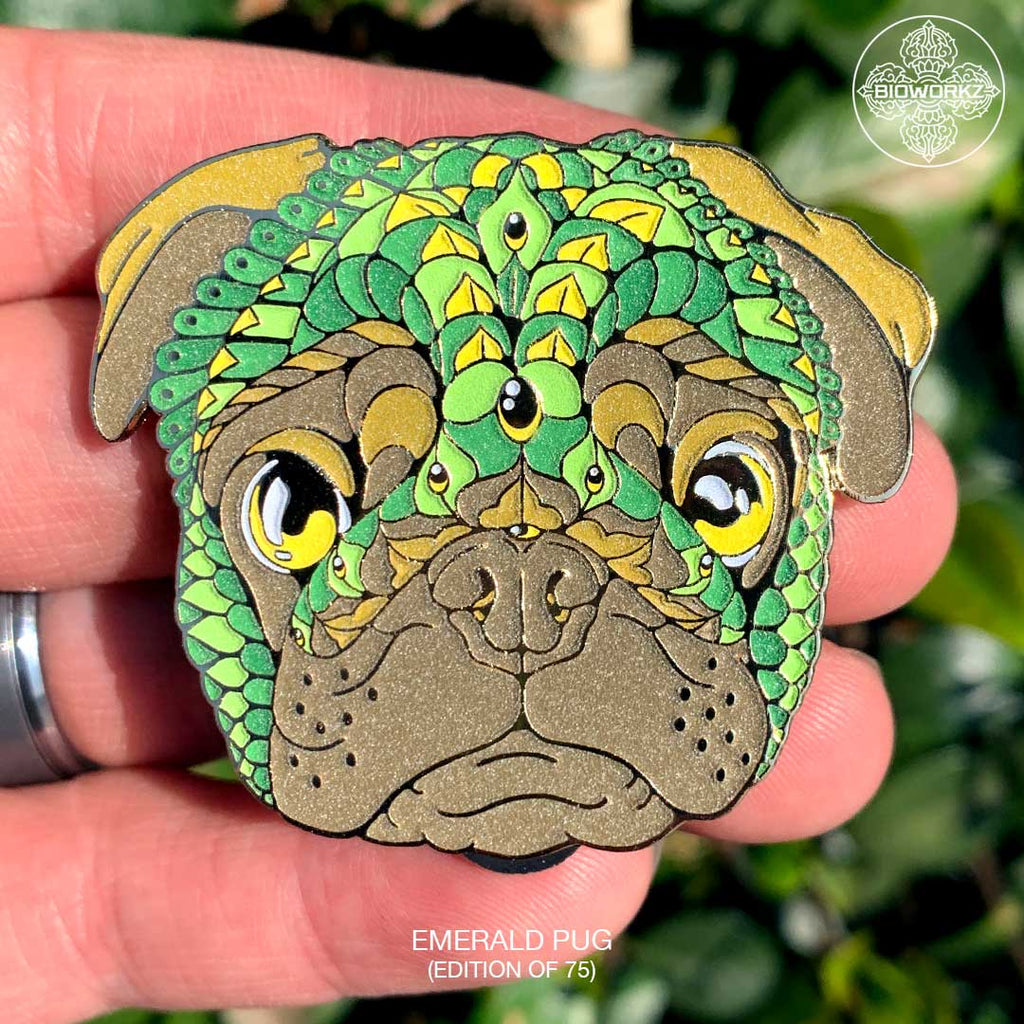Emerald Pug Pin (Edition of 75)