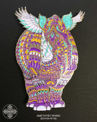 Amethyst Rhino Pin (Edition of 60)