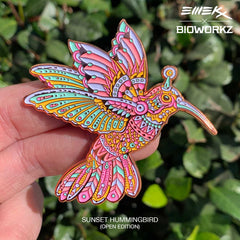Sunset Hummingbird Pin