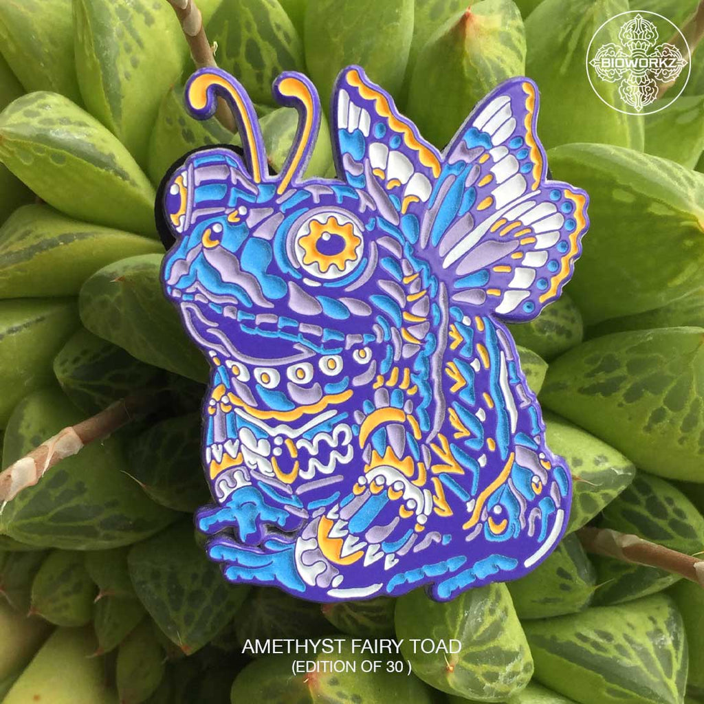 Amethyst Fairy Toad Pin (Edition of 30)