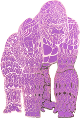 Amethyst Gorilla Pin (Edition of 50)