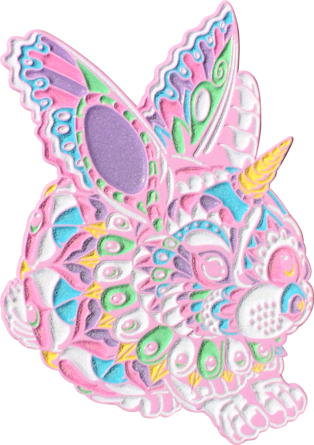 Cotton Candy Bunny Pin (Edition of 25)