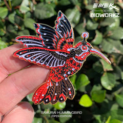 Samurai Hummingbird Pin