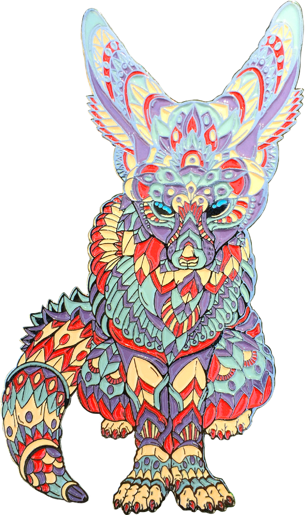 Terra Cotta Fox Pin (Edition of 30)