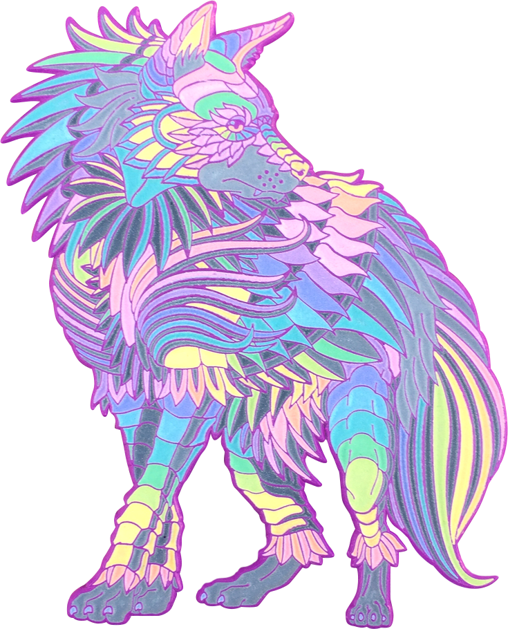 Rainbow Pastel Hyena (Edition of 40)