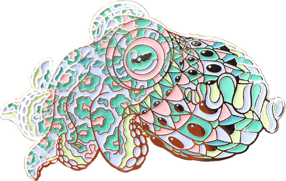 Porcelain Cuddlefish Pin (Edition of 25)
