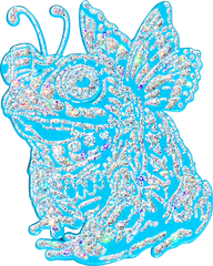 Quartz Fairy Toad Pin (Edition of 10)