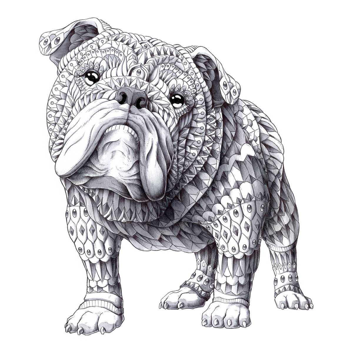 English Bulldog (Original Artwork)