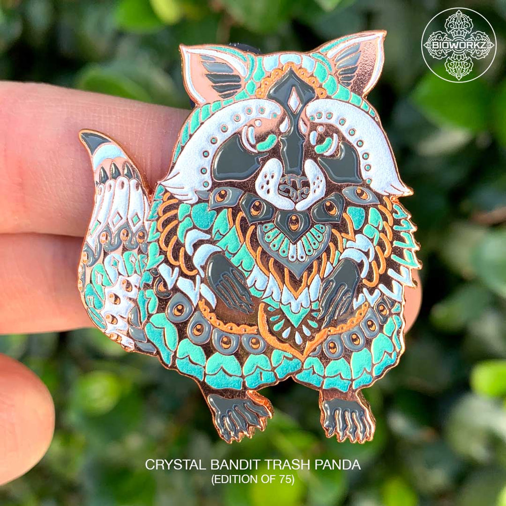 Crystal Bandit Trash Panda Pin (Edition of 75)