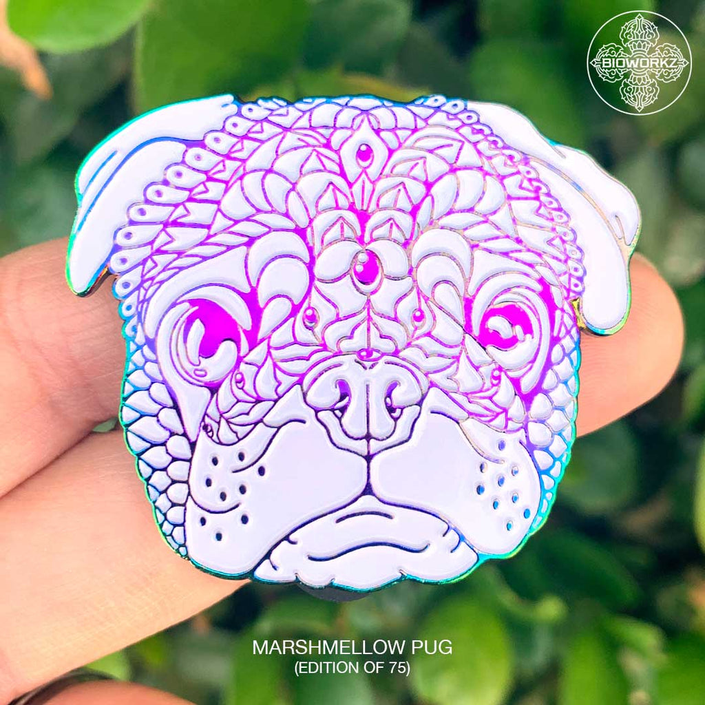 Marshmallow Pug Pin (Edition of 75)