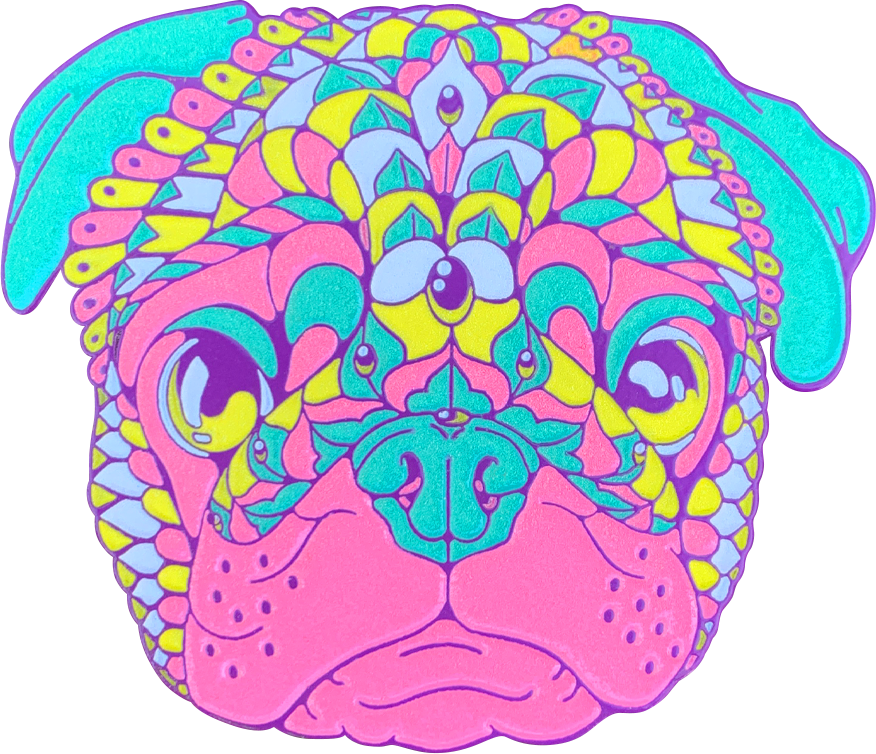 Electric Pug Pin (Edition of 75)