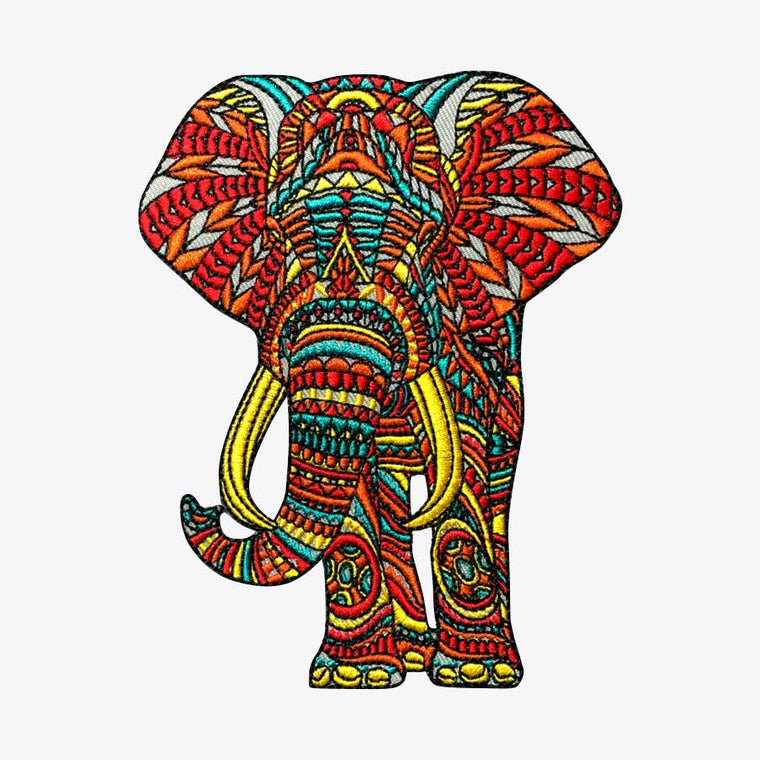 Ornate Elephant (Embroidered Patch)