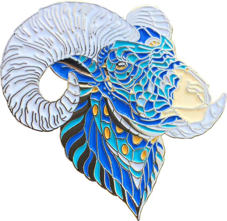 Big Horned Sheep Pin