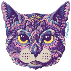 Cat Head Sticker