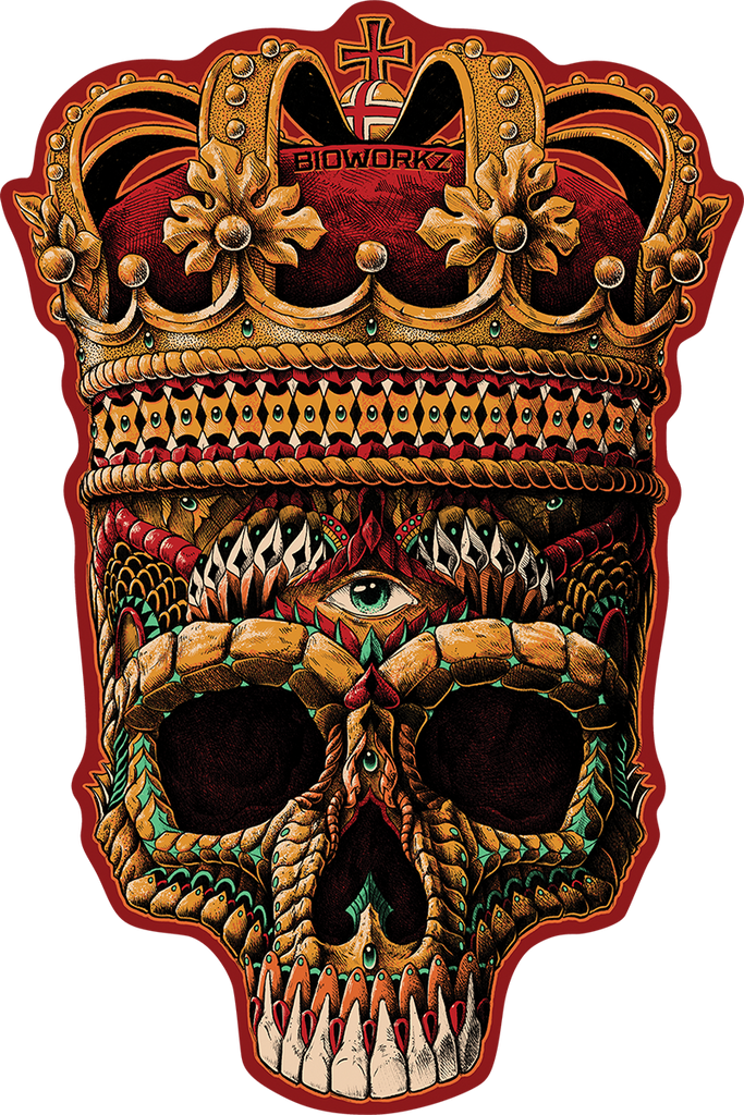 Crowned Skull Sticker