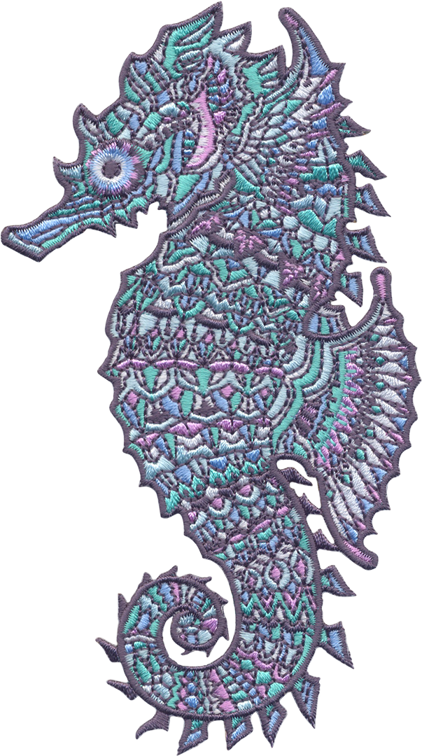Crystal Seahorse (Embroidered Patch)