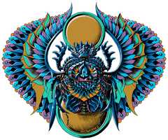 Egyptian Scarab Sticker