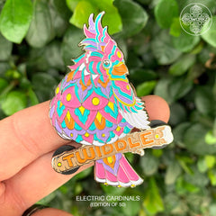 Electric Cardinal Twiddle Pin (Edition of 50)