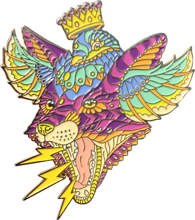 Fox Pigeon Fusion Artist Variant Pin (Edition of 50)