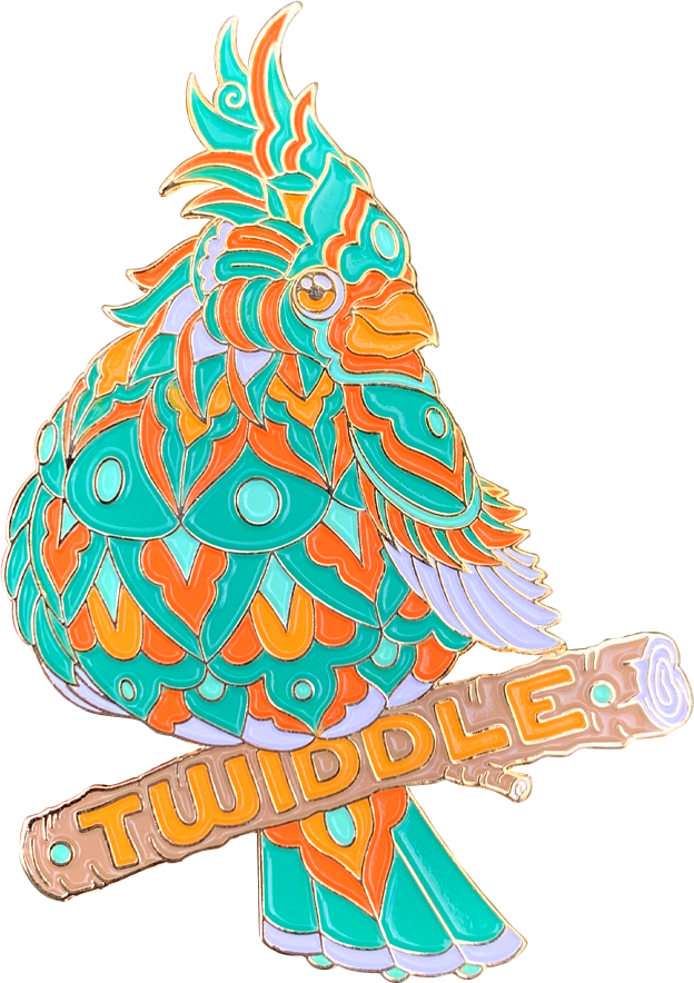 Fresh Cardinal Twiddle Pin (Edition of 50)