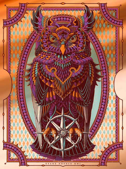 Grand Horned Owl Copper Foil (Edition of 5)
