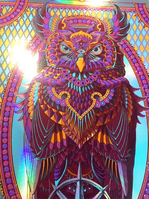 Grand Horned Owl Rainbow Foil (Edition of 50)