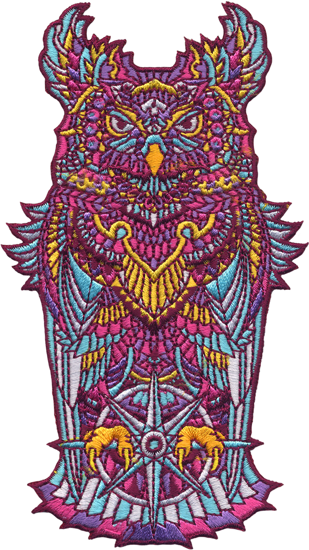 Grand Amethyst Owl (Embroidered Patch)