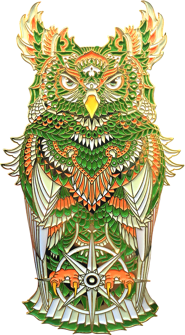 Grand Emerald Owl Pin (Edition of 50)
