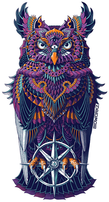 Grand Horned Owl Sticker
