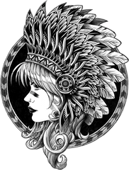 Headdress Sticker