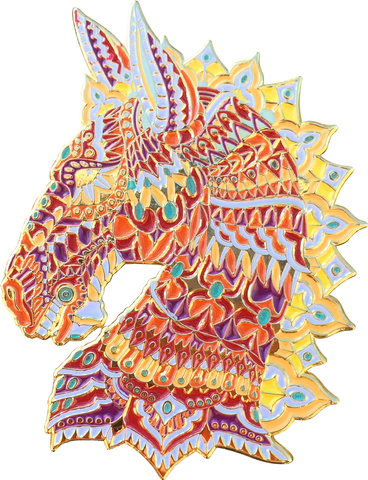 Fiery Horse Pin (Open Edition)