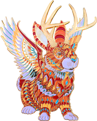 Jackalope Pin (Edition of 100)