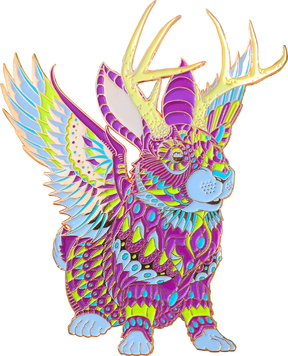 Violet Jackalope Pin (Edition of 75)