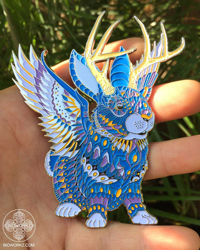 Hyacinth Jackalope Pin (Edition of 50)