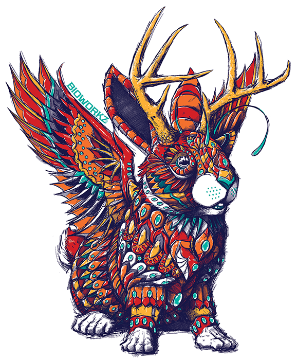 Jackalope Sticker