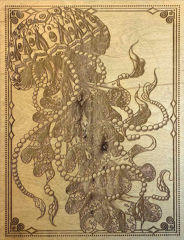 Jellyfish Driftwood Variant Etched Print (Edition of 4)