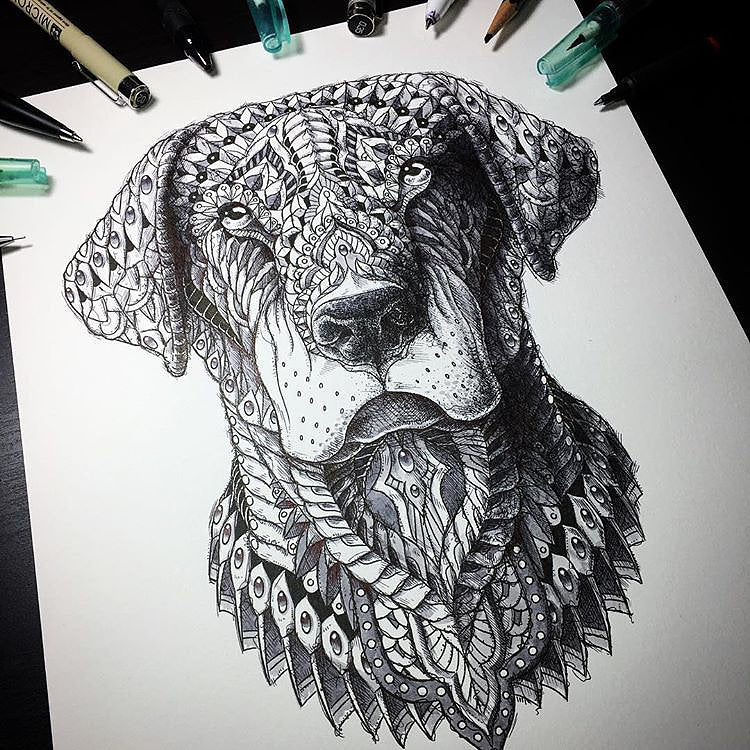Labrador Drawing (Original Artwork)