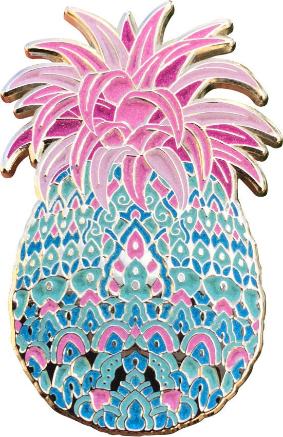 Bubblegum Pineapple Pin (Glows in the dark)
