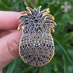 Midnight Pineapple Pin