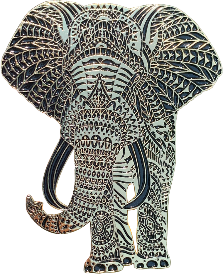 Midnight Elephant Pin