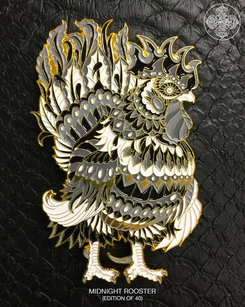 Midnight Rooster Pin (Edition of 40)
