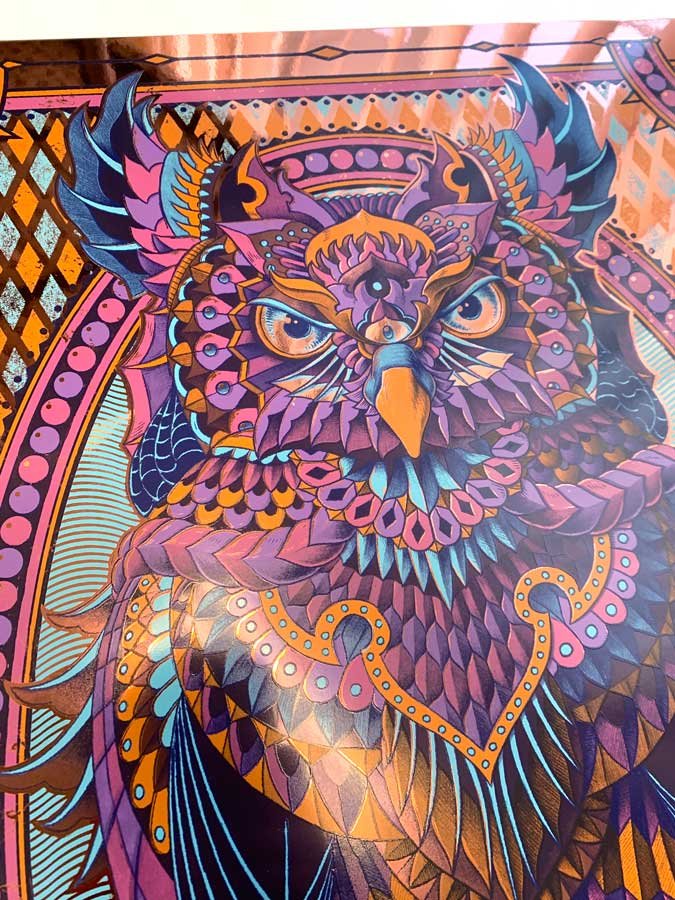 Grand Horned Owl Navy Copper Foil (Edition of 5)