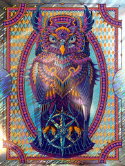 Grand Horned Owl Navy Lava Foil (Edition of 20)