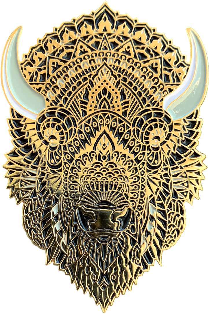 Midnight Bison Pin