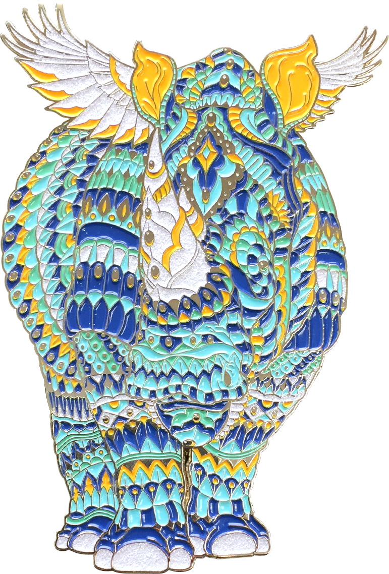 Opal Rhino Pin (Edition of 80)